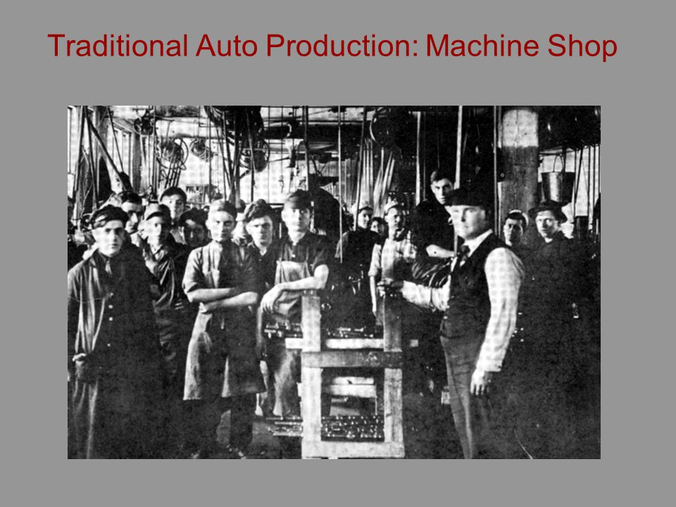 The New Technology The secret of Fords industrial success the rigidly standardized Model T The standard design of the product customer could have any color so long as it was black a logic for simplified production With product standardization Ford engineers could standardize work and work processesTaylorism