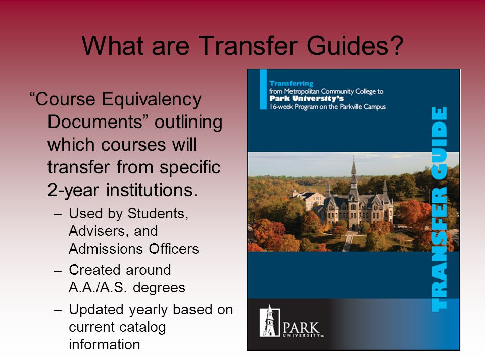 What are Transfer Guides.