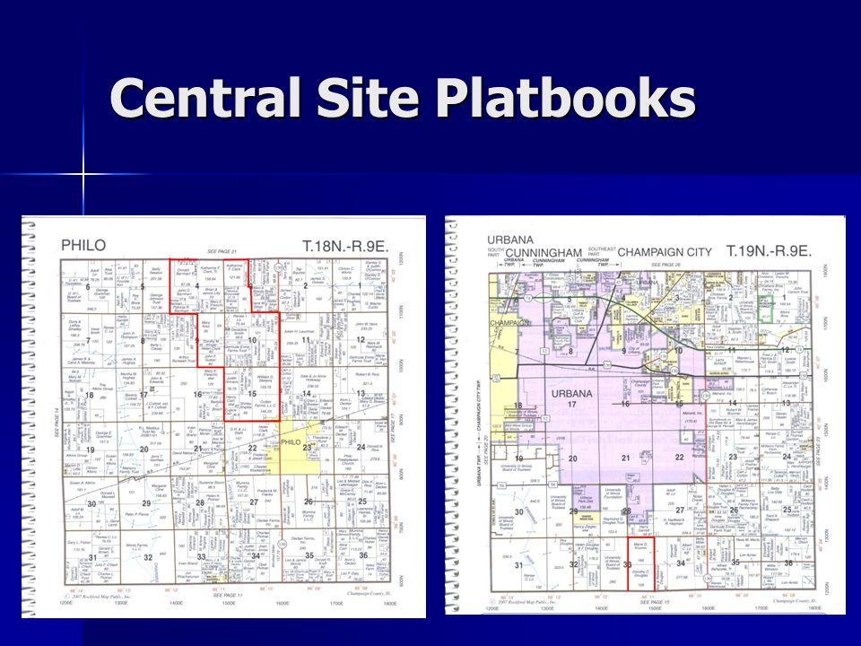 Central Site Platbooks