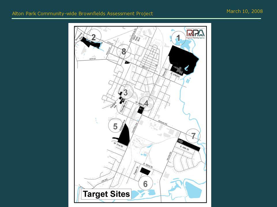 Alton Park Community-wide Brownfields Assessment Project March 10, 2008