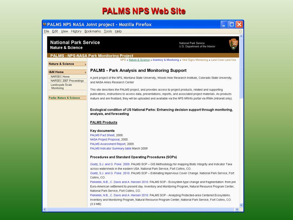 PALMS NPS Web Site
