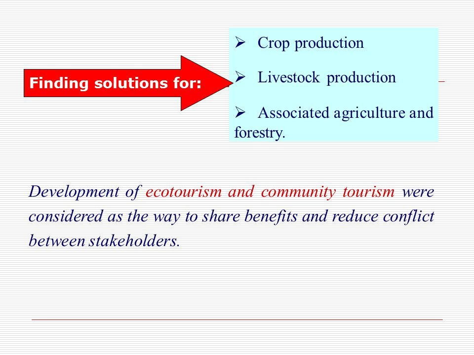 Crop production Livestock production Associated agriculture and forestry.