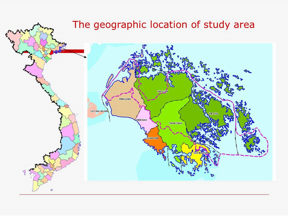 The geographic location of study area