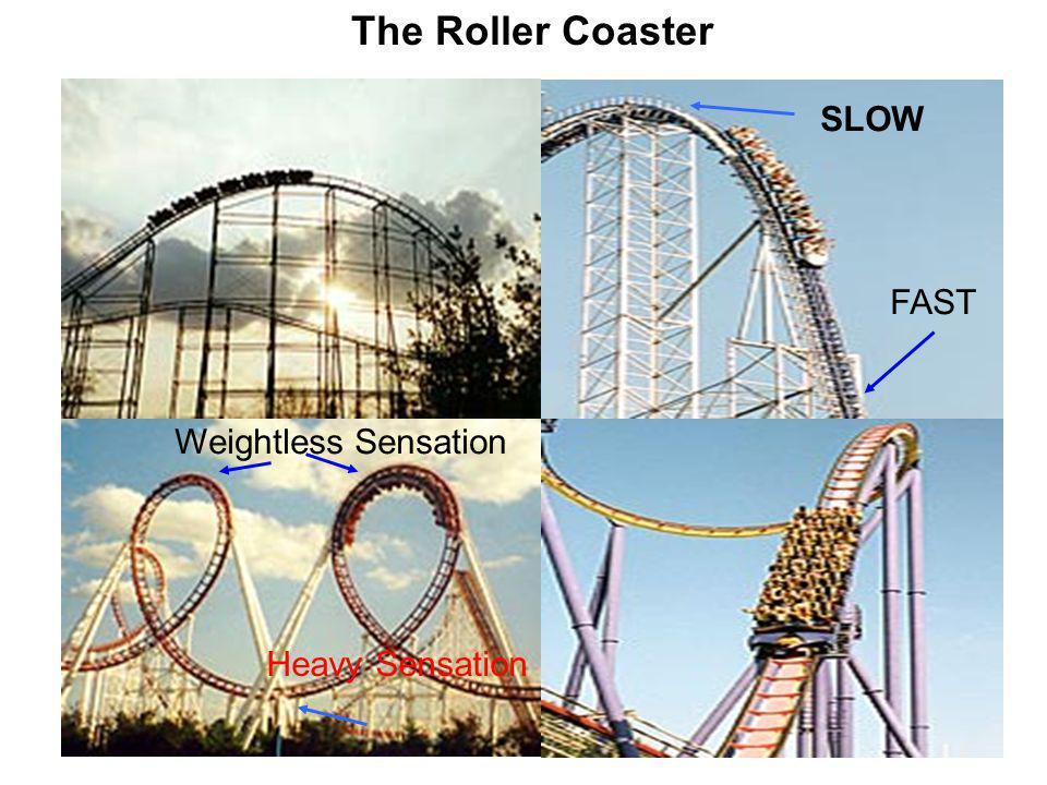 SLOW FAST Weightless Sensation Heavy Sensation The Roller Coaster