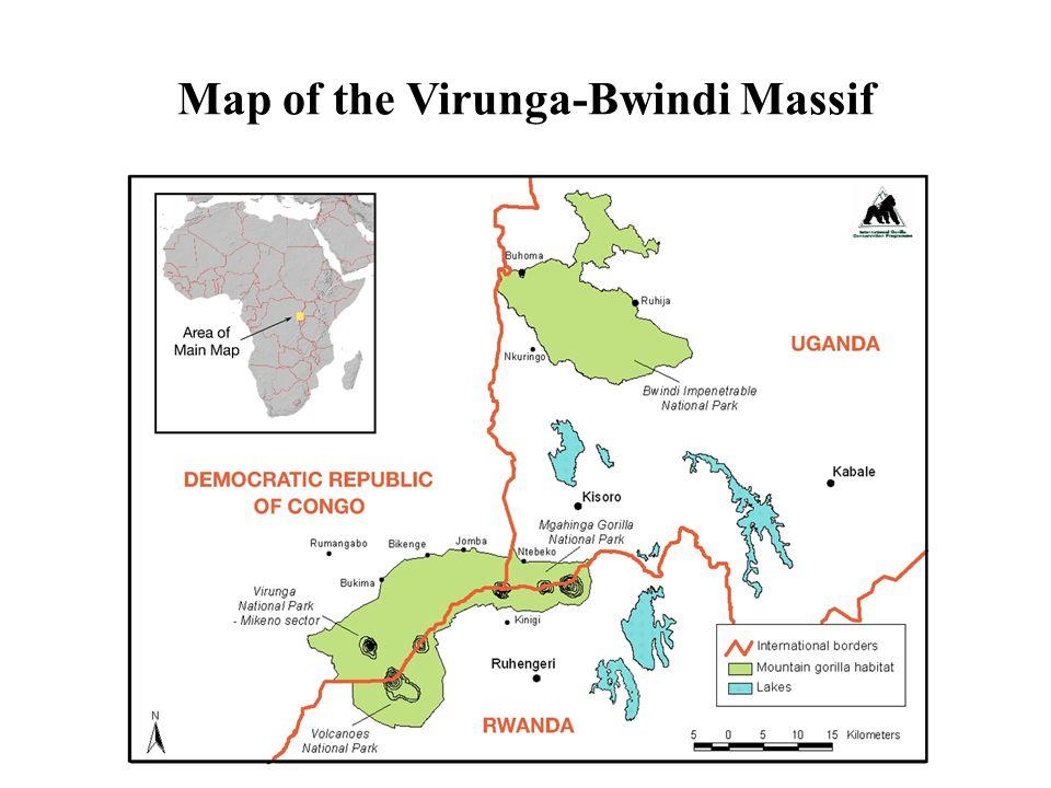 Map of the Virunga-Bwindi Massif