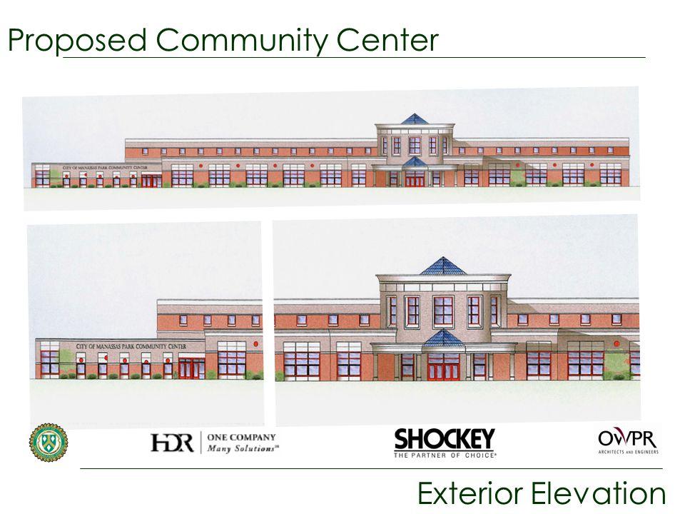 Proposed Community Center Exterior Elevation