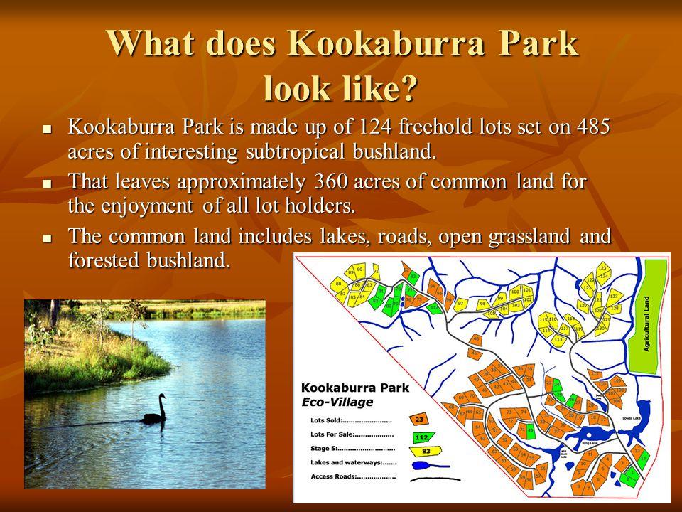 What does Kookaburra Park look like.
