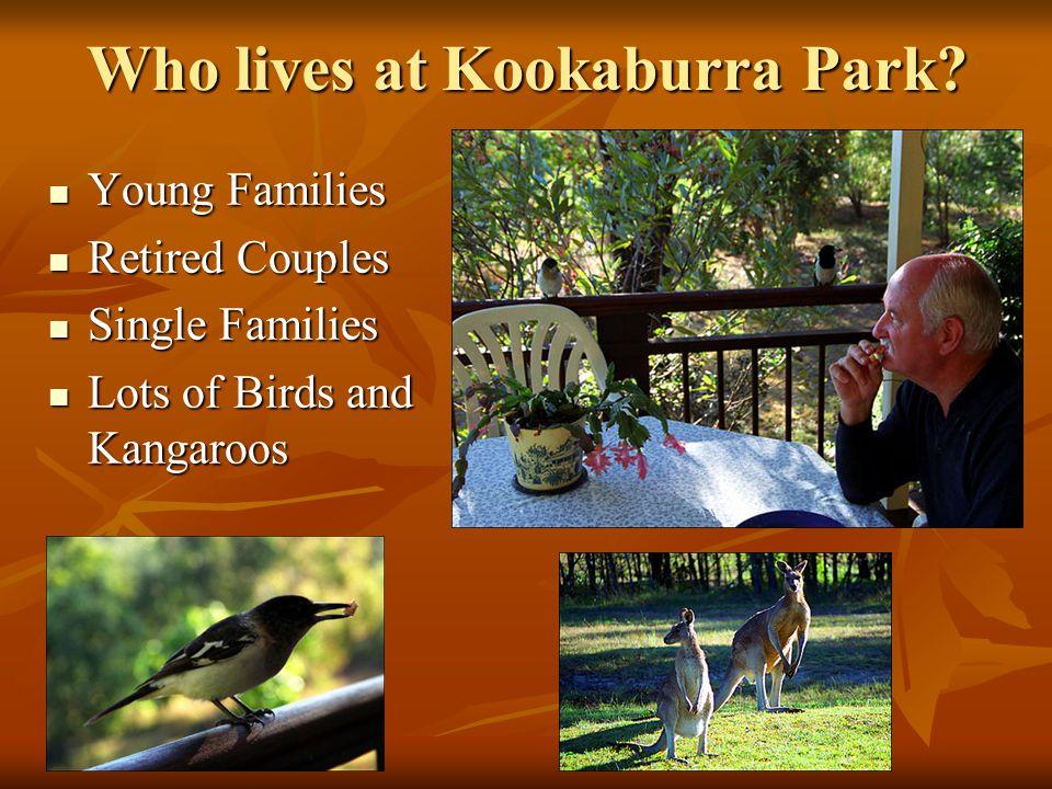 Who lives at Kookaburra Park.