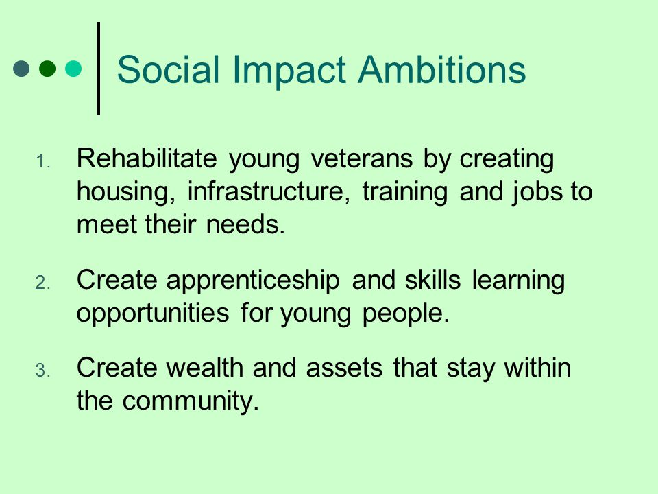 Social Impact Ambitions 1.