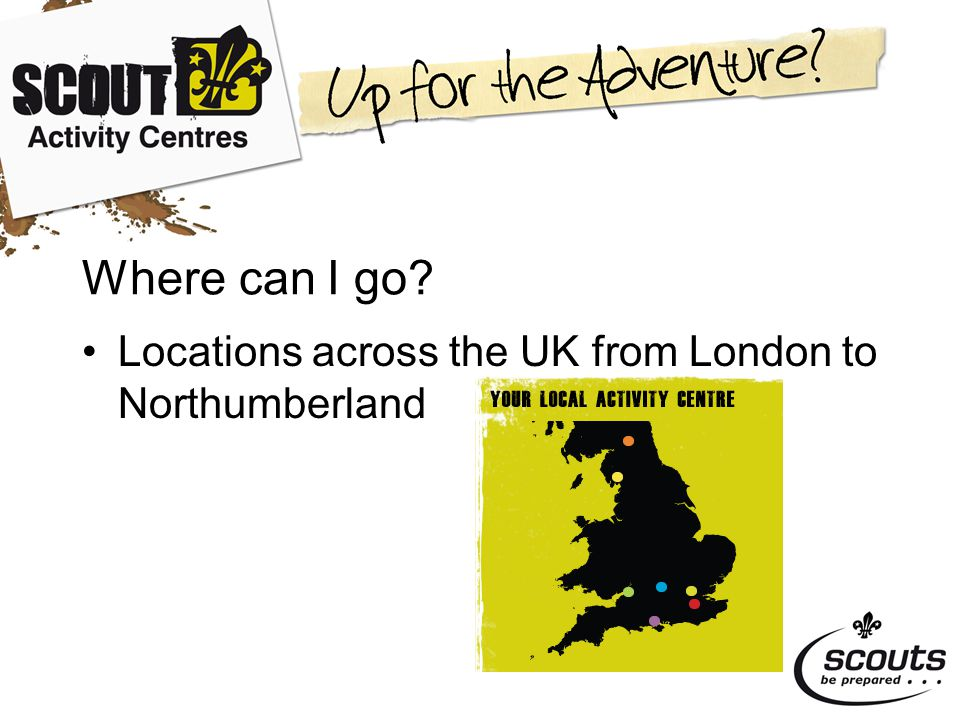 Where can I go Locations across the UK from London to Northumberland