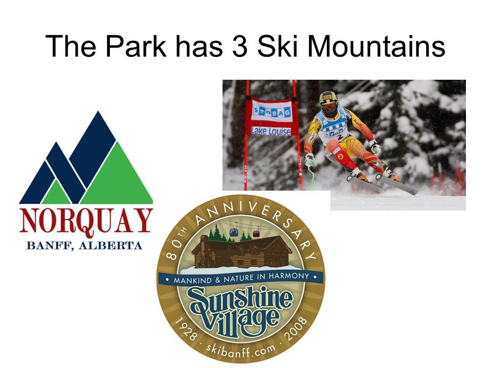 The Park has 3 Ski Mountains
