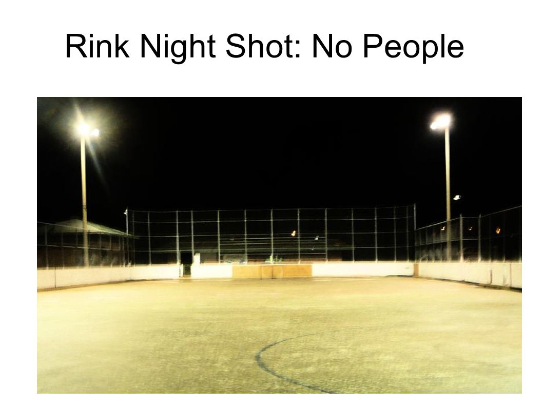Rink Night Shot: No People