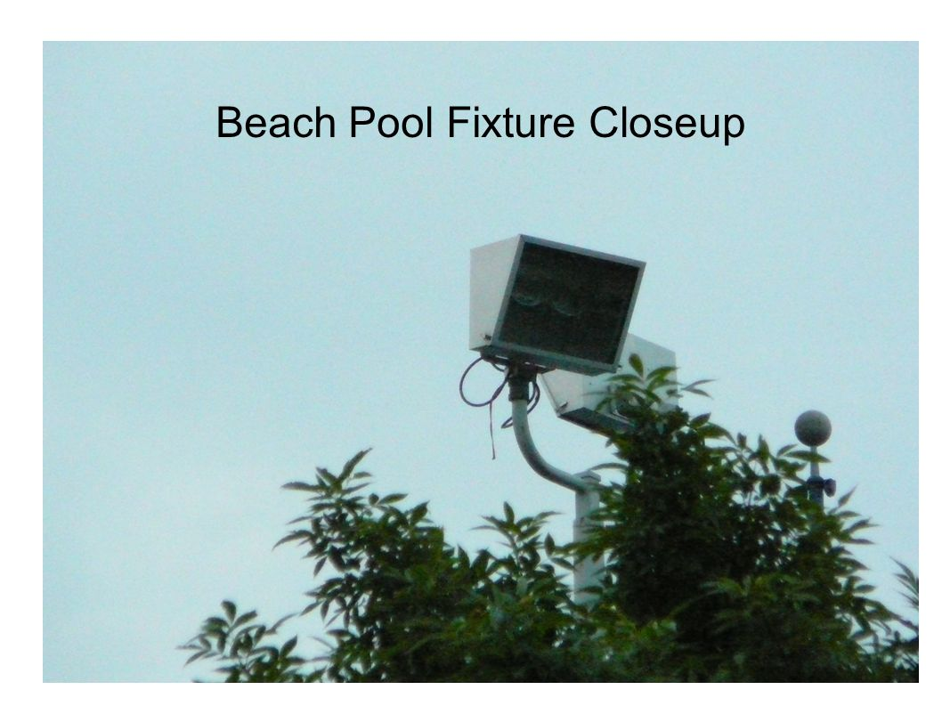 Beach Pool Fixture Closeup