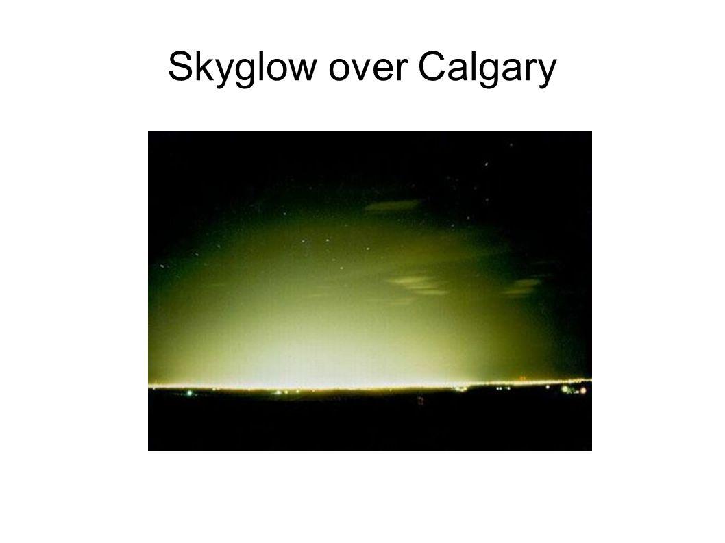 Skyglow over Calgary