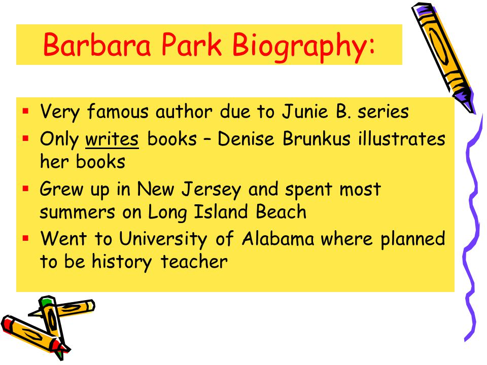 Barbara Park Biography: Very famous author due to Junie B.
