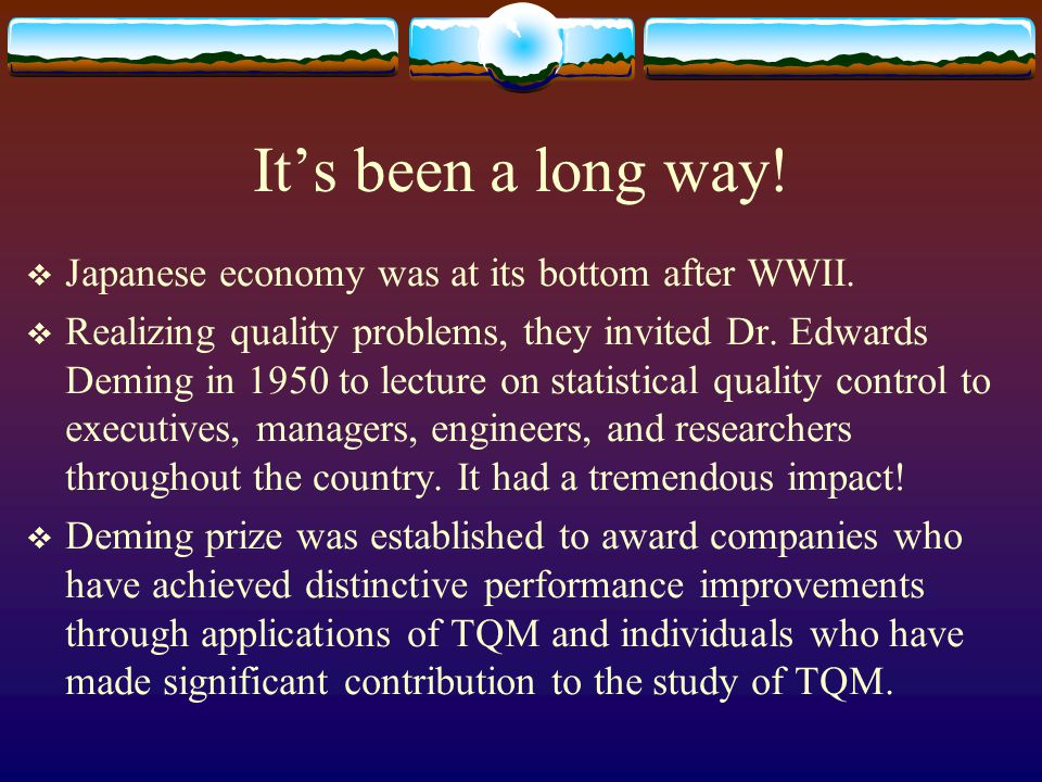 Its been a long way.Japanese economy was at its bottom after WWII.