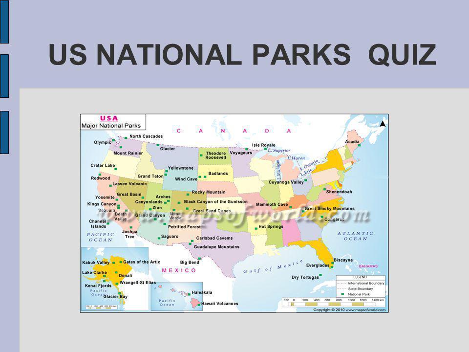 US NATIONAL PARKS QUIZ