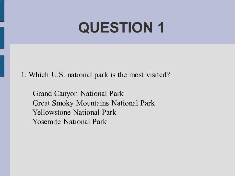 ANSWER 1 Great Smoky Mountains National Park