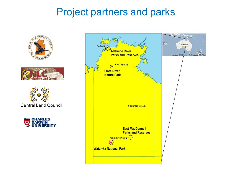 Project partners and parks Central Land Council