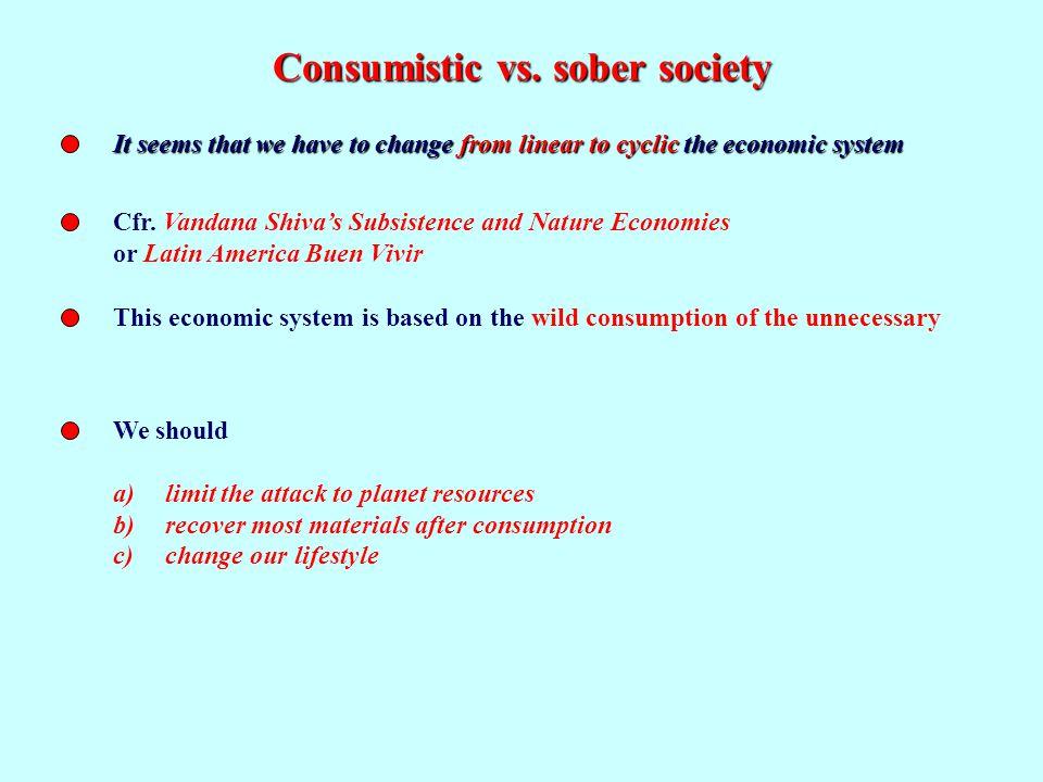 Consumistic vs.