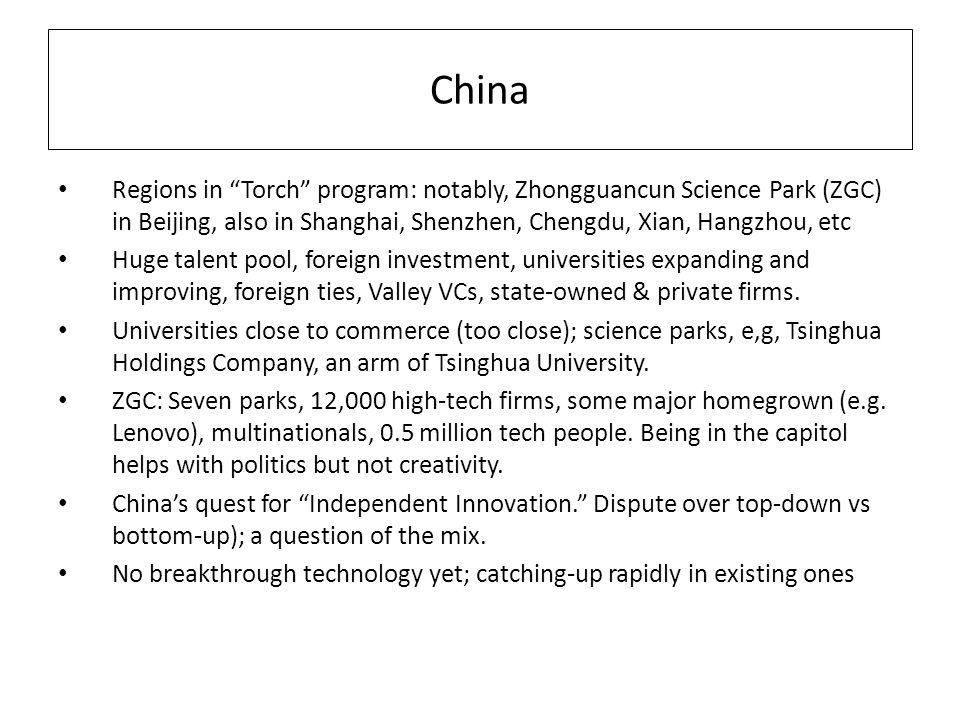 Dubious Experiences with Science Parks Importance of what is inside them – Need science + ecosystem – Tsukuba Science City: not entrepreneurial – Daejon, Koreas Silicon Valley (not exactly) – North Carolinas Research Triangle Park: ~ 70 companies with 42,000 professional workers; three good/decent universities; a moderate success Wallsten: no correlation in US between science parks and employment or venture capital