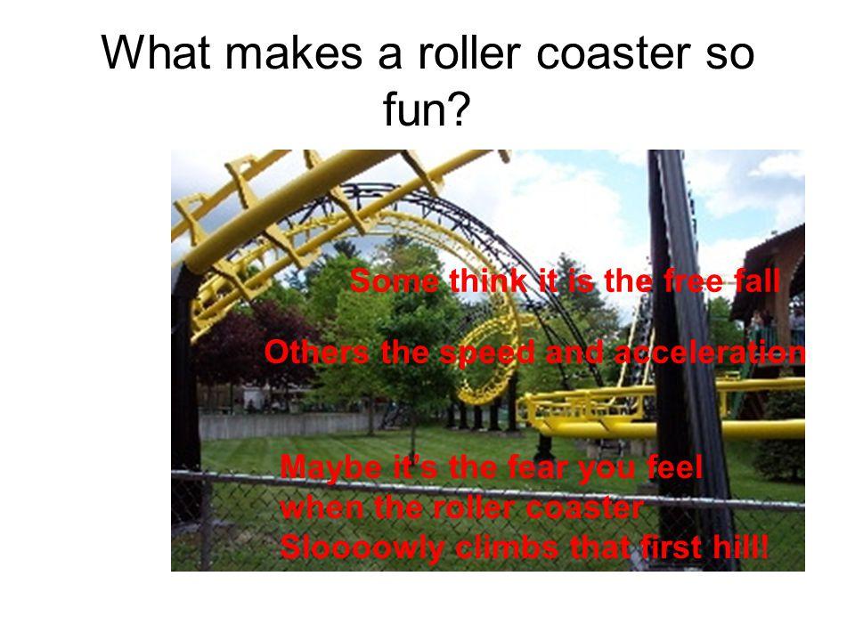 What makes a roller coaster so fun.