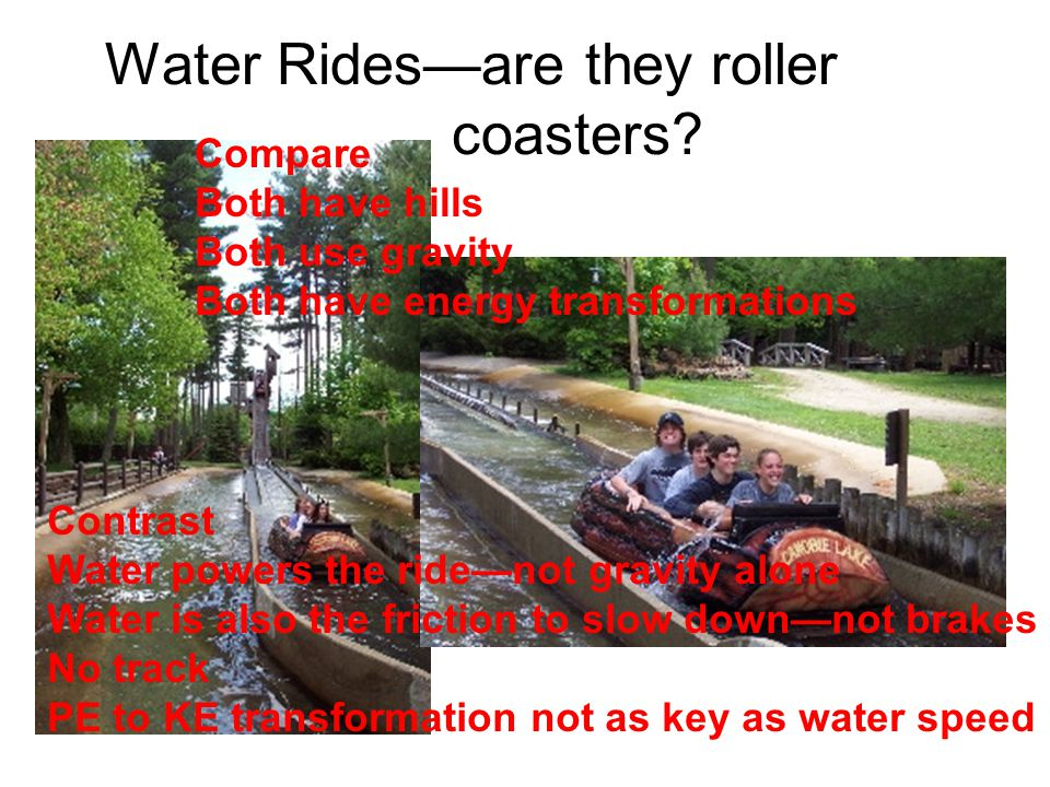 Water Ridesare they roller coasters.