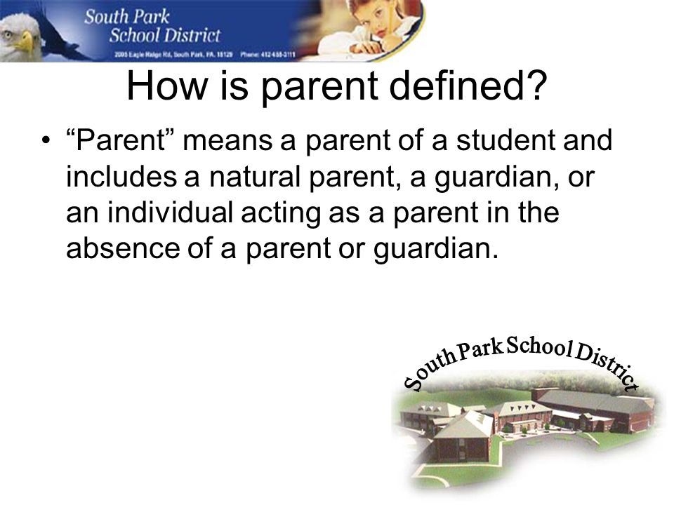 How is parent defined.