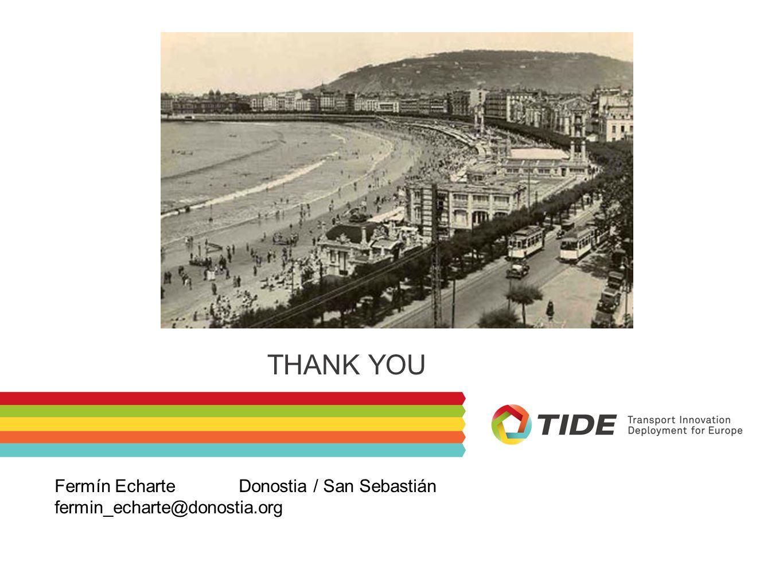 THANK YOU Fermín Echarte Donostia / San Sebastián fermin_echarte@donostia.org