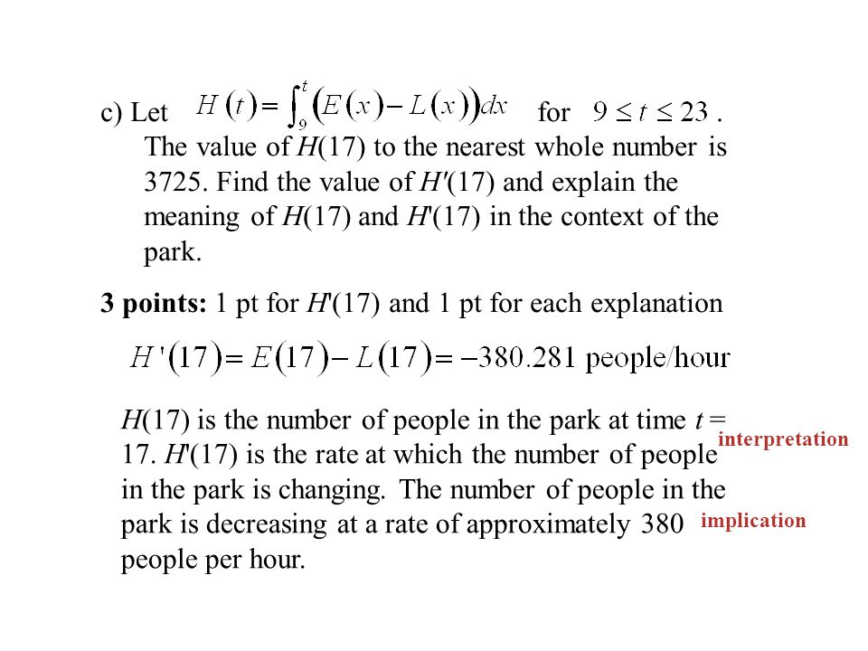 c) Let for. The value of H(17) to the nearest whole number is 3725.