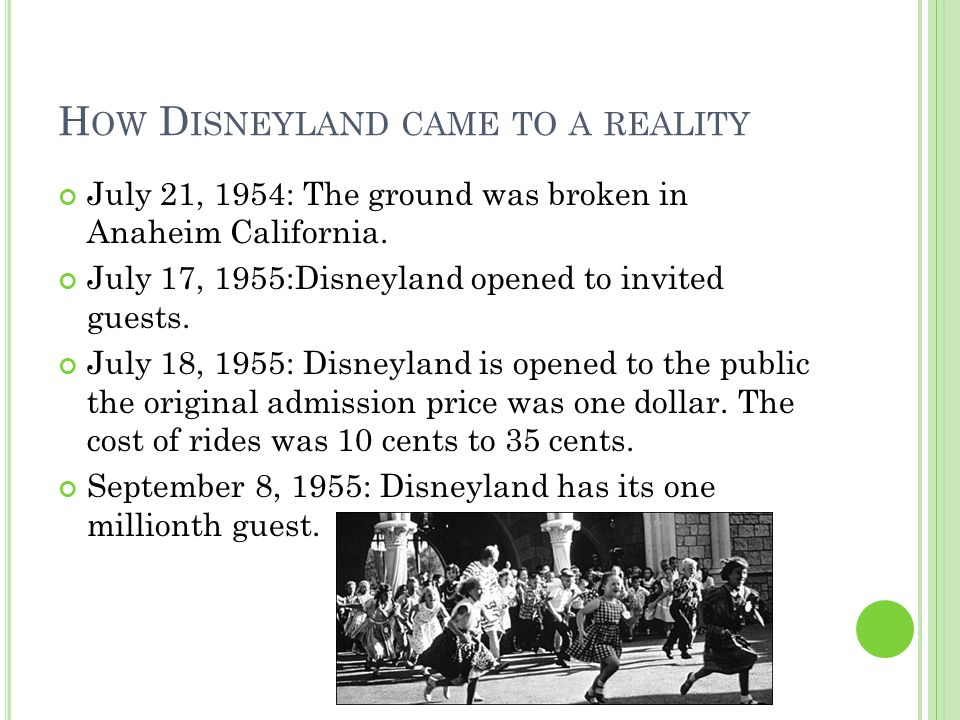 T HE B LACKEST S UNDAY On July 17, 1955: Disneyland opened to invited guests.
