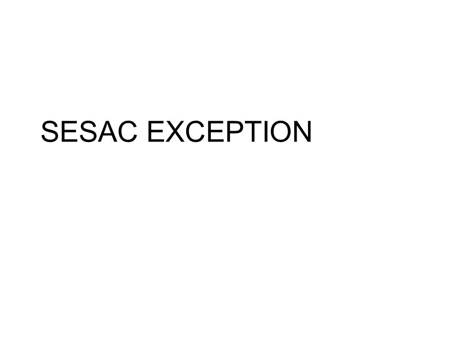 SESAC EXCEPTION
