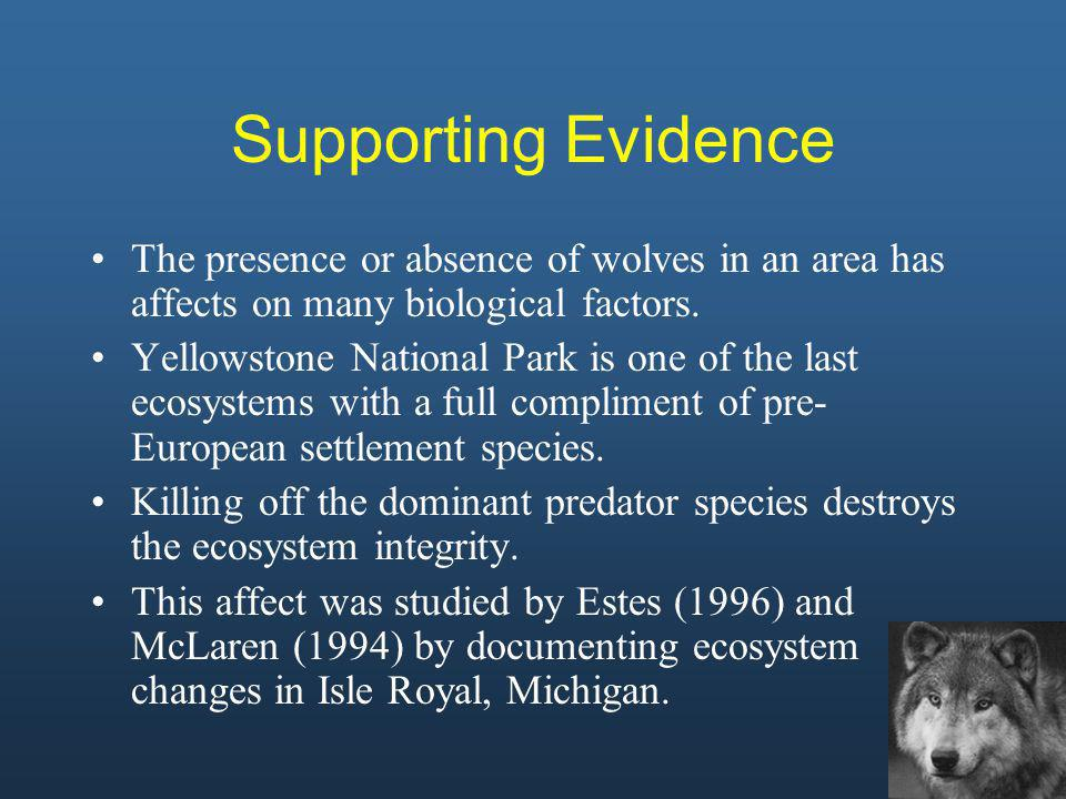 The declining wolf population allowed moose to grow in population size, putting extra strain on balsam fir, a main component of a moose s diet.
