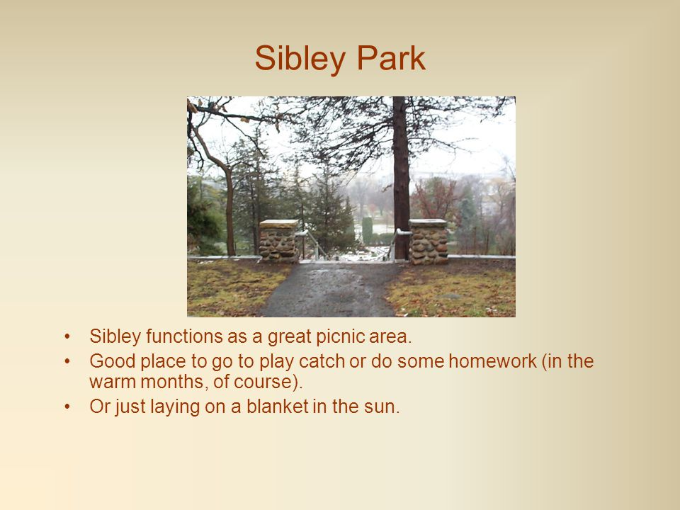 Sibley Park In 1989 the newly reestablished zoo consisted of a prairie dog colony, deer, peacocks, rabbits & goats.