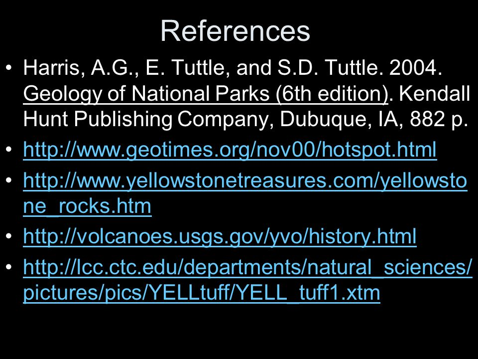 References Harris, A.G., E. Tuttle, and S.D. Tuttle.