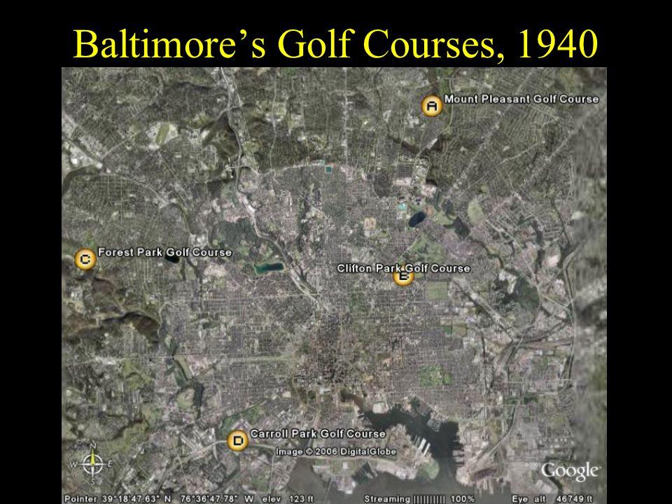 Baltimores Golf Courses, 1940