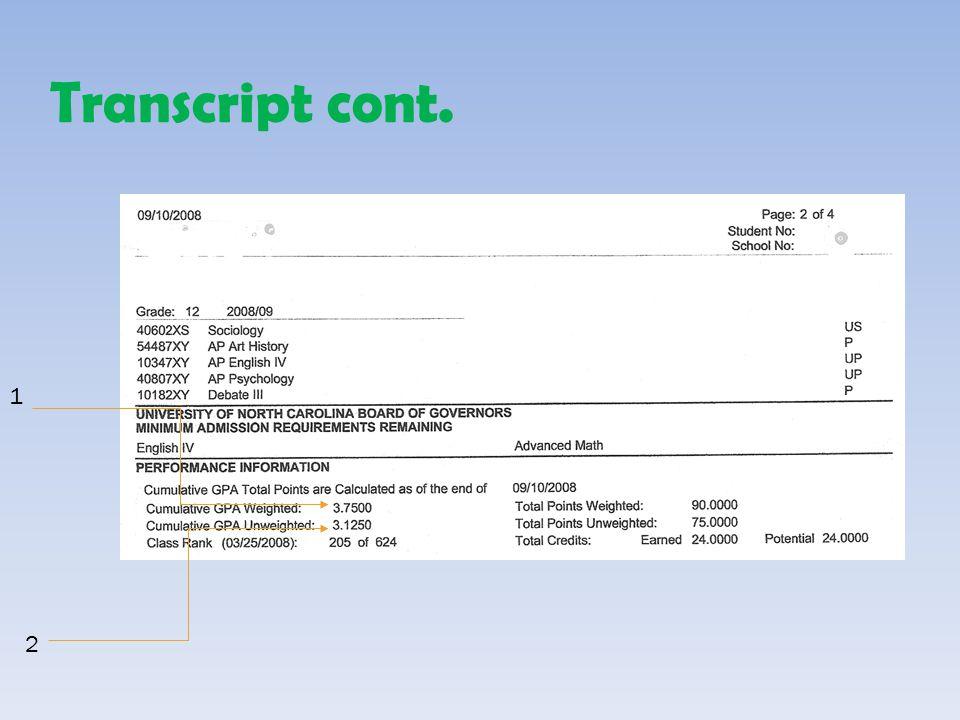 Transcript cont. 1 2