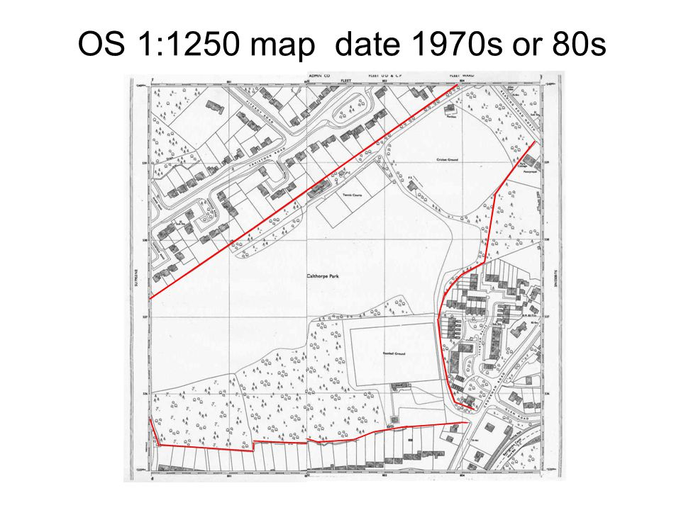 OS 1:1250 map date 1970s or 80s