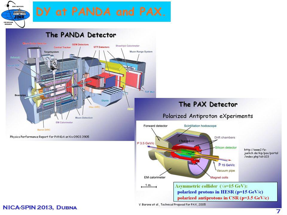 18 J-PARK DY Programme. NICA-SPIN 2013, Dubna