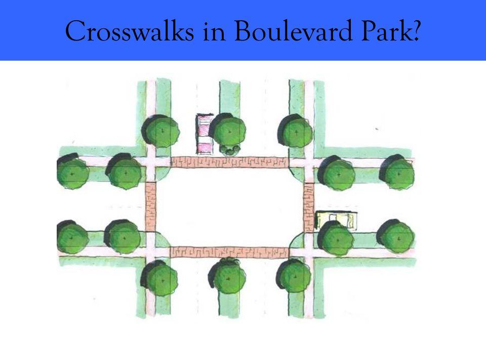 Crosswalks in Boulevard Park