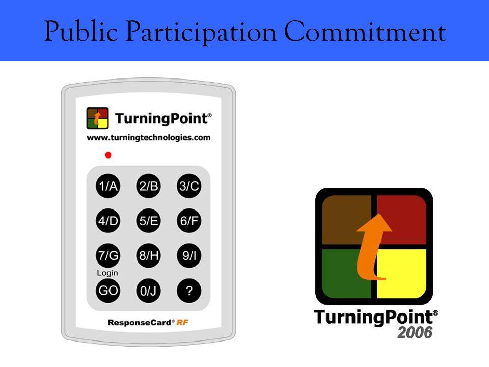 Public Participation Commitment