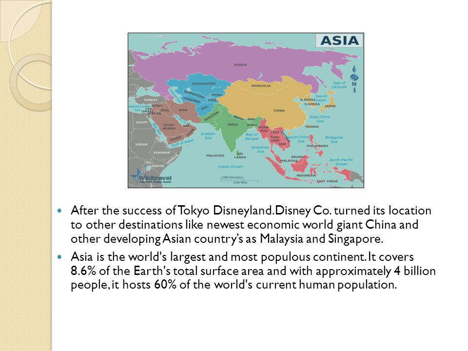 After the success of Tokyo Disneyland.Disney Co.
