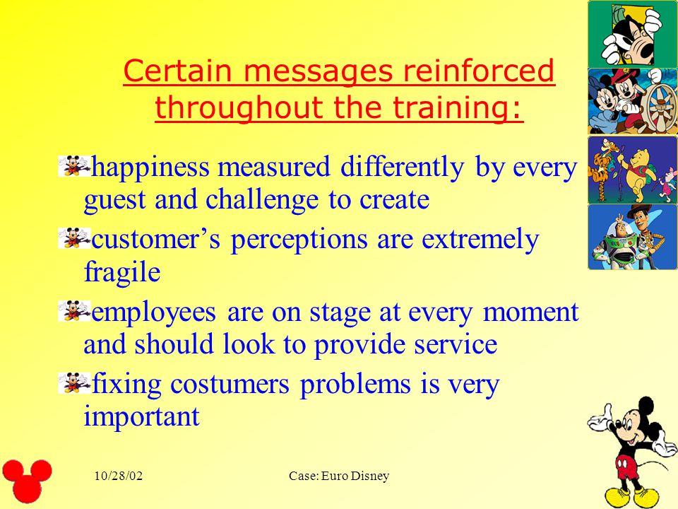 10/28/02Case: Euro Disney Service standards: safety courtesy show efficiency