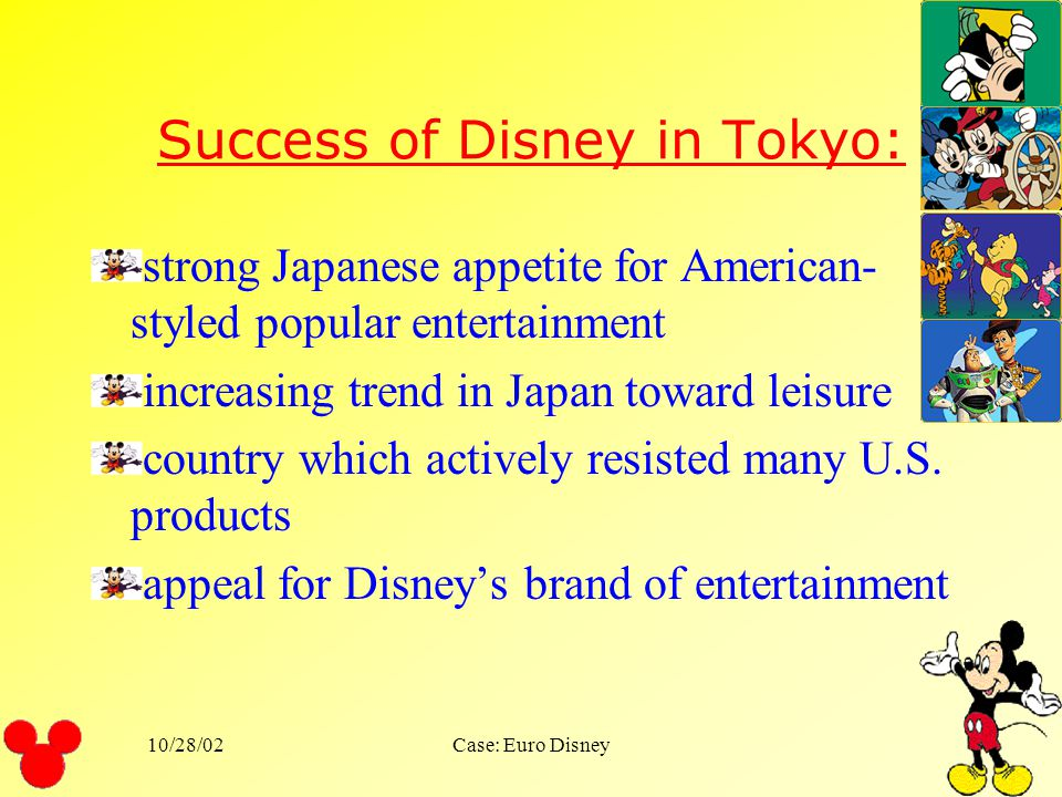 10/28/02Case: Euro Disney Employees were evaluated based upon: energy enthusiasm commitment pride
