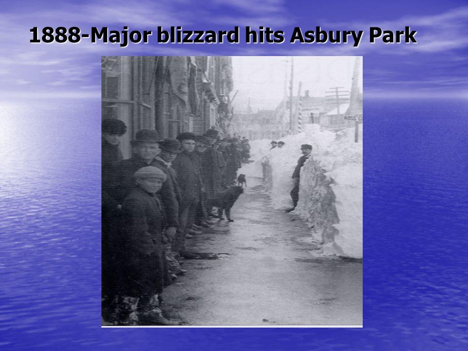 1888-Major blizzard hits Asbury Park