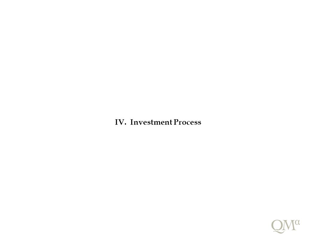 IV. Investment Process