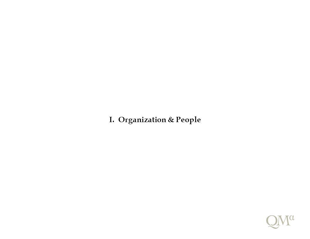 I. Organization & People