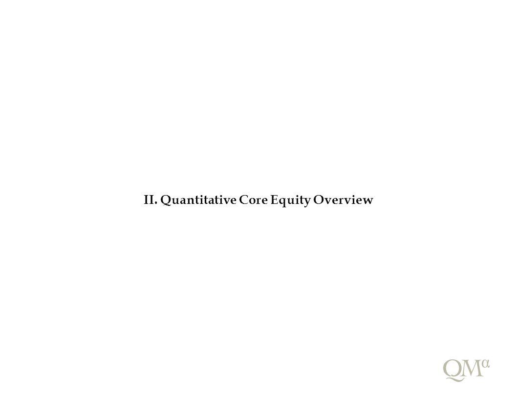 II. Quantitative Core Equity Overview