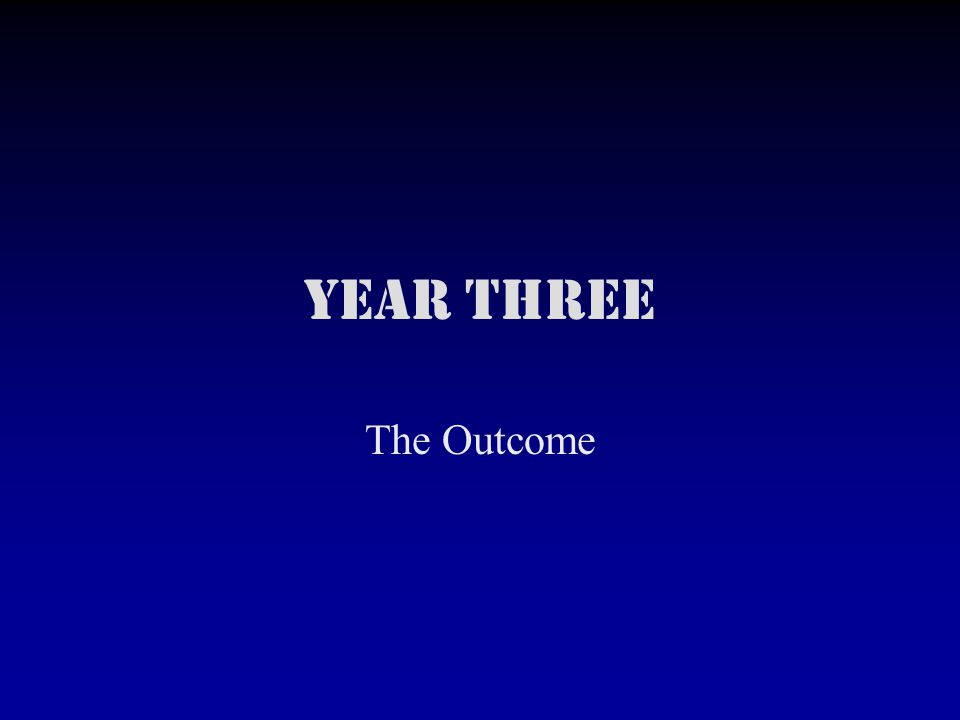Year Three The Outcome