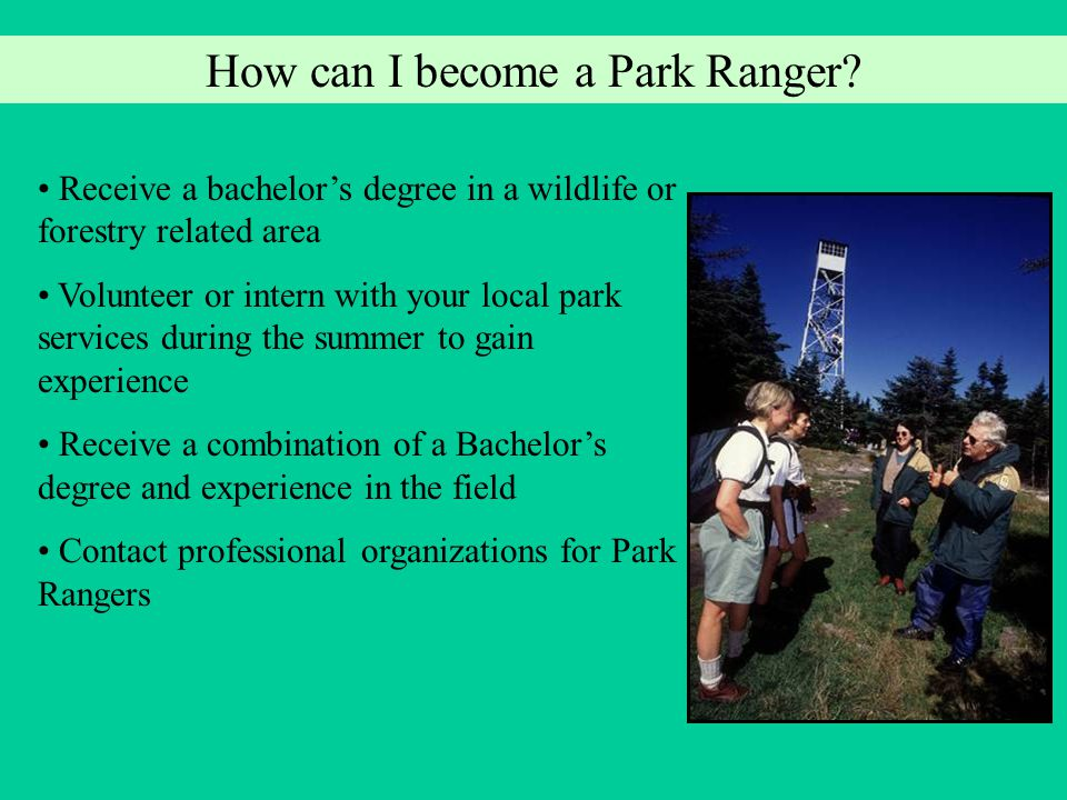 Career Resources Rangers on the Web Internet: http://www.rangersontheweb.com What is a Park Ranger.